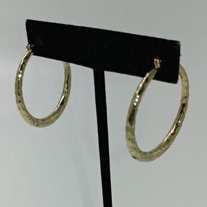 NWT TeSori Hammered Metal Hoop Earrings